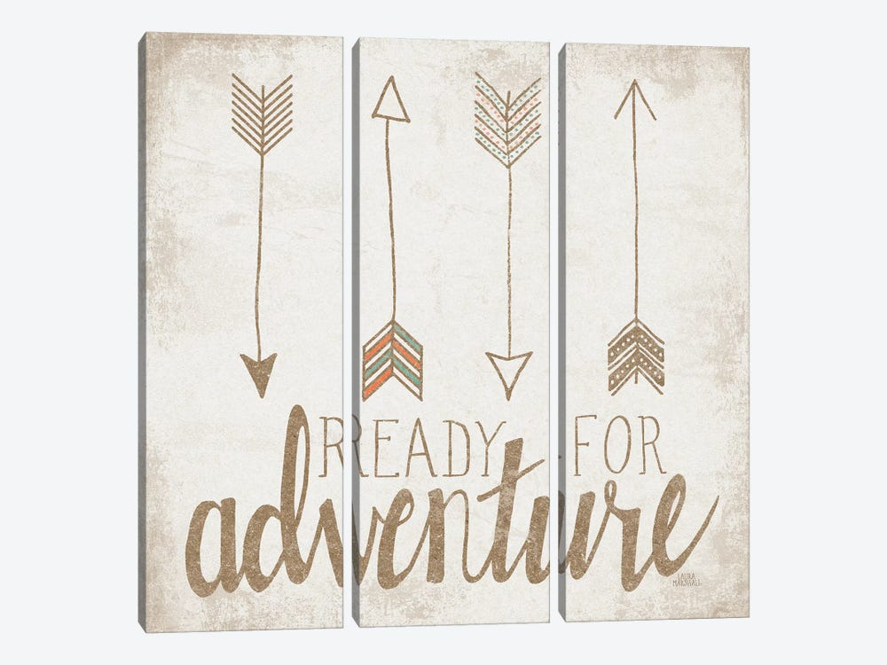 Ready For Adventure, Beige by Laura Marshall 3-piece Canvas Wall Art