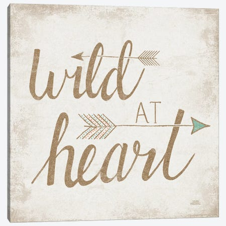 Wild At Heart, Beige Canvas Print #WAC8174} by Laura Marshall Canvas Artwork