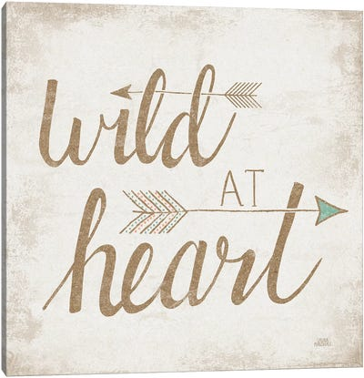 Wild At Heart, Beige Canvas Art Print