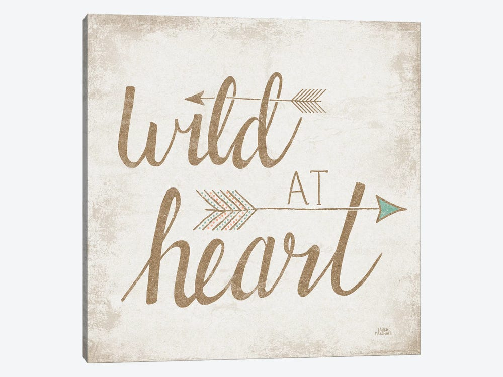 Wild At Heart, Beige by Laura Marshall 1-piece Art Print