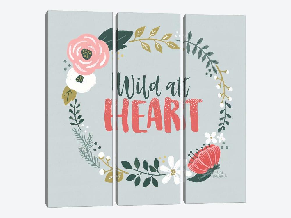 Wildflower Daydreams IV by Laura Marshall 3-piece Canvas Art Print