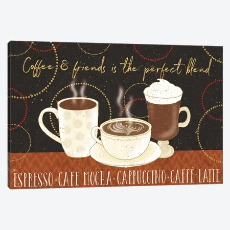 Fresh Coffee I Canvas Print #WAC8183} by Lisa Audit Canvas Wall Art