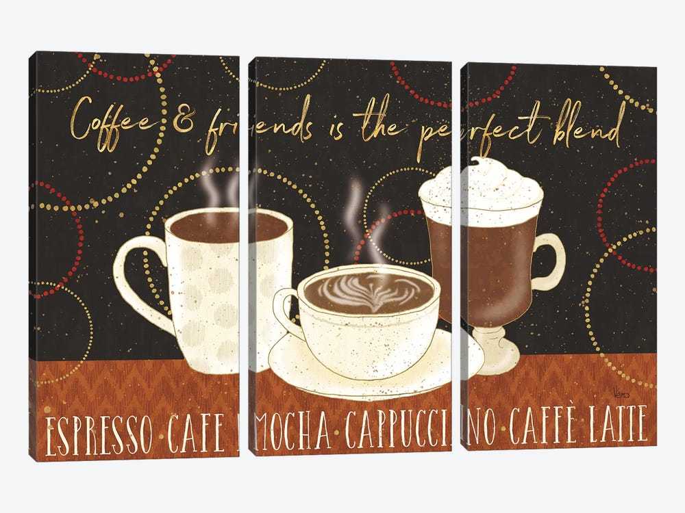 Fresh Coffee I by Lisa Audit 3-piece Canvas Art Print