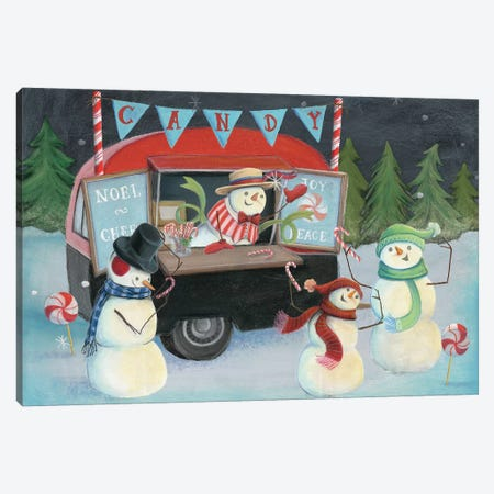 Christmas On Wheels, Light I Canvas Print #WAC8191} by Mary Urban Canvas Print