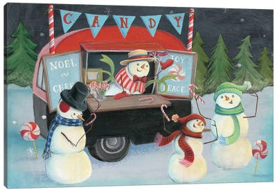 Christmas On Wheels, Light I Canvas Art Print