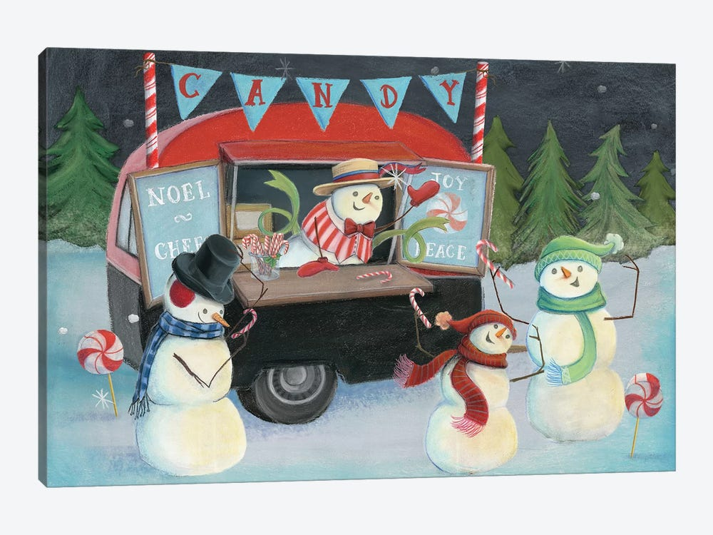 Christmas On Wheels, Light I by Mary Urban 1-piece Canvas Artwork