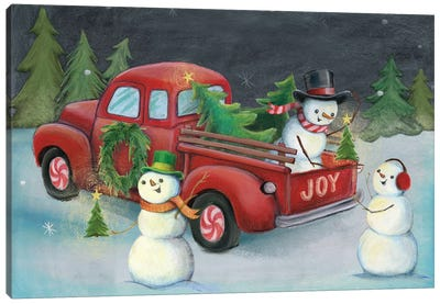 Christmas On Wheels, Light II Canvas Art Print