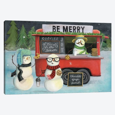 Christmas On Wheels, Light III Canvas Print #WAC8193} by Mary Urban Art Print