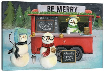 Christmas On Wheels, Light III Canvas Art Print