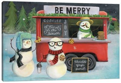 Christmas On Wheels, Light III Canvas Art Print