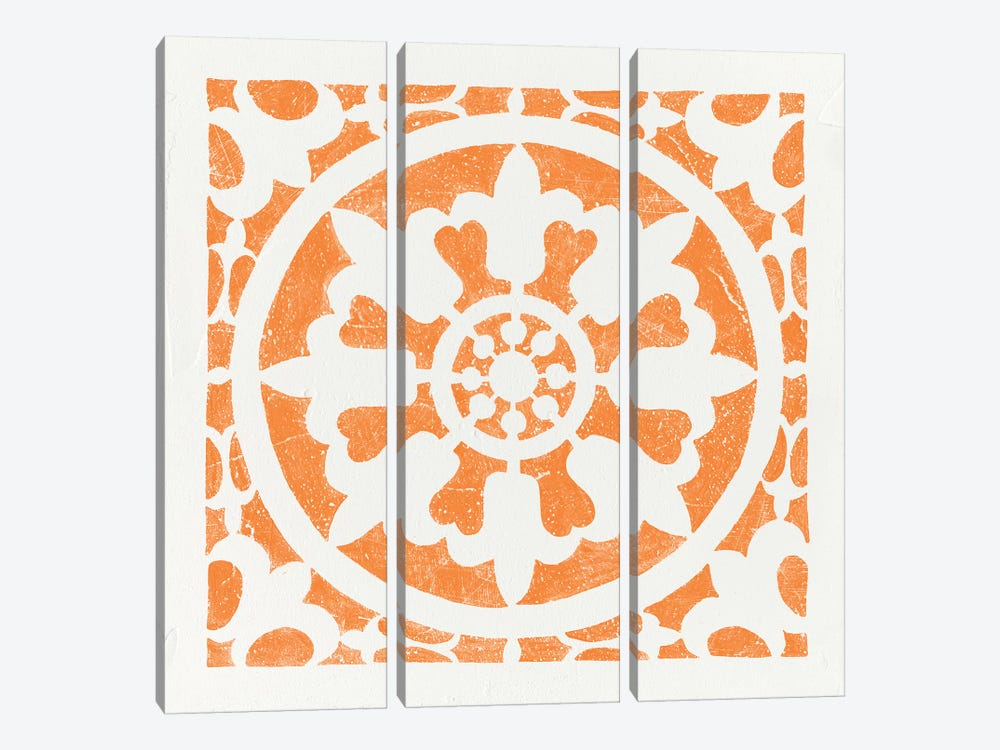 Hacienda Tile II by Moira Hershey 3-piece Canvas Wall Art
