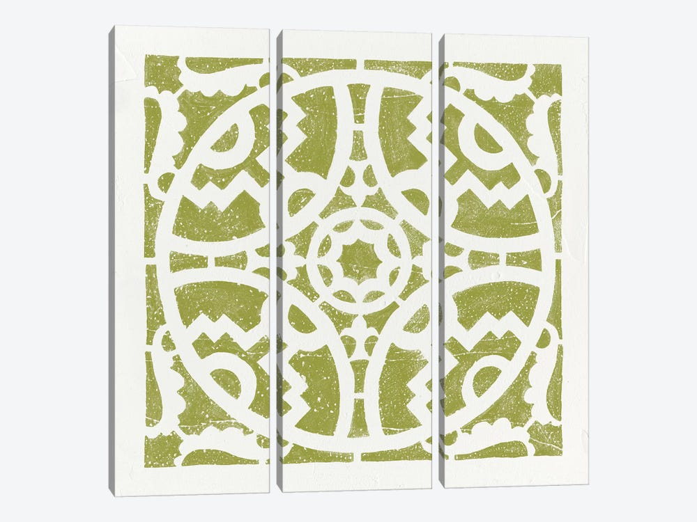 Hacienda Tile IV by Moira Hershey 3-piece Canvas Print