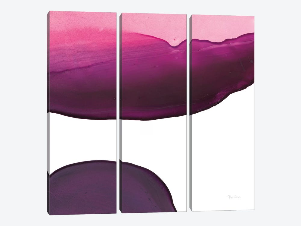 Swish Of Magenta III by Piper Rhue 3-piece Canvas Wall Art