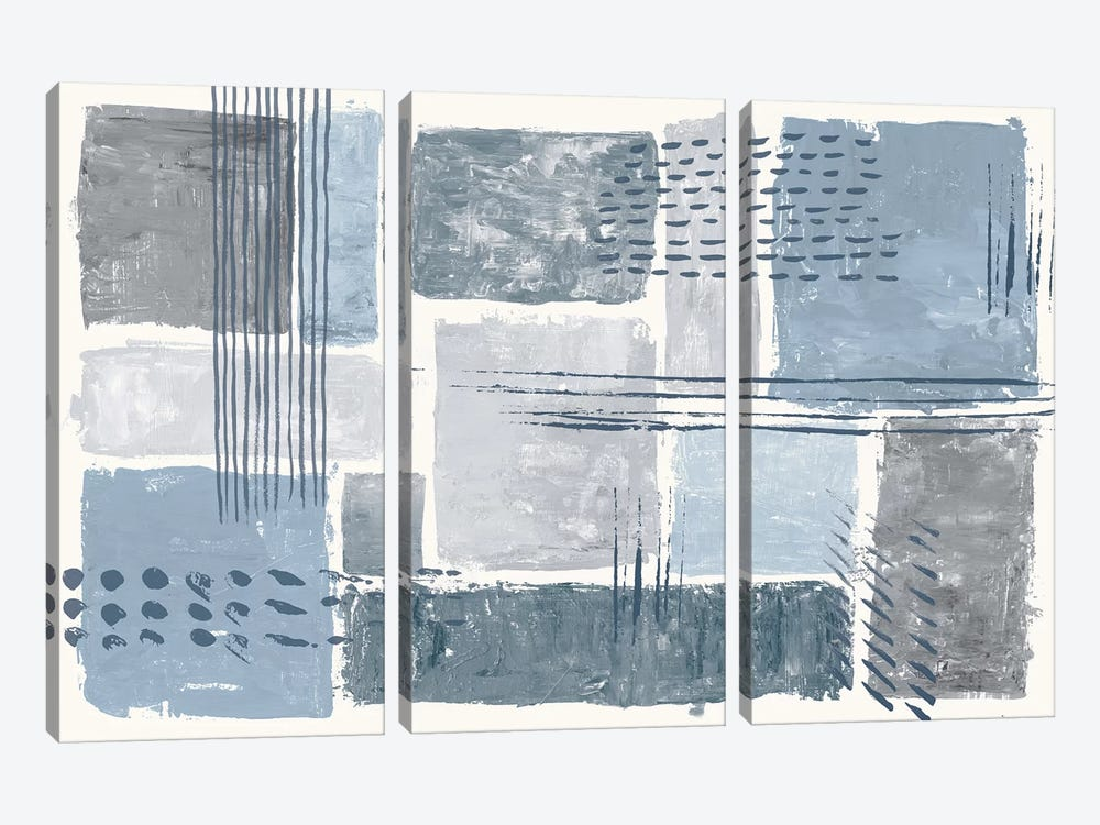 Between The Lines I by Sarah Adams 3-piece Canvas Print