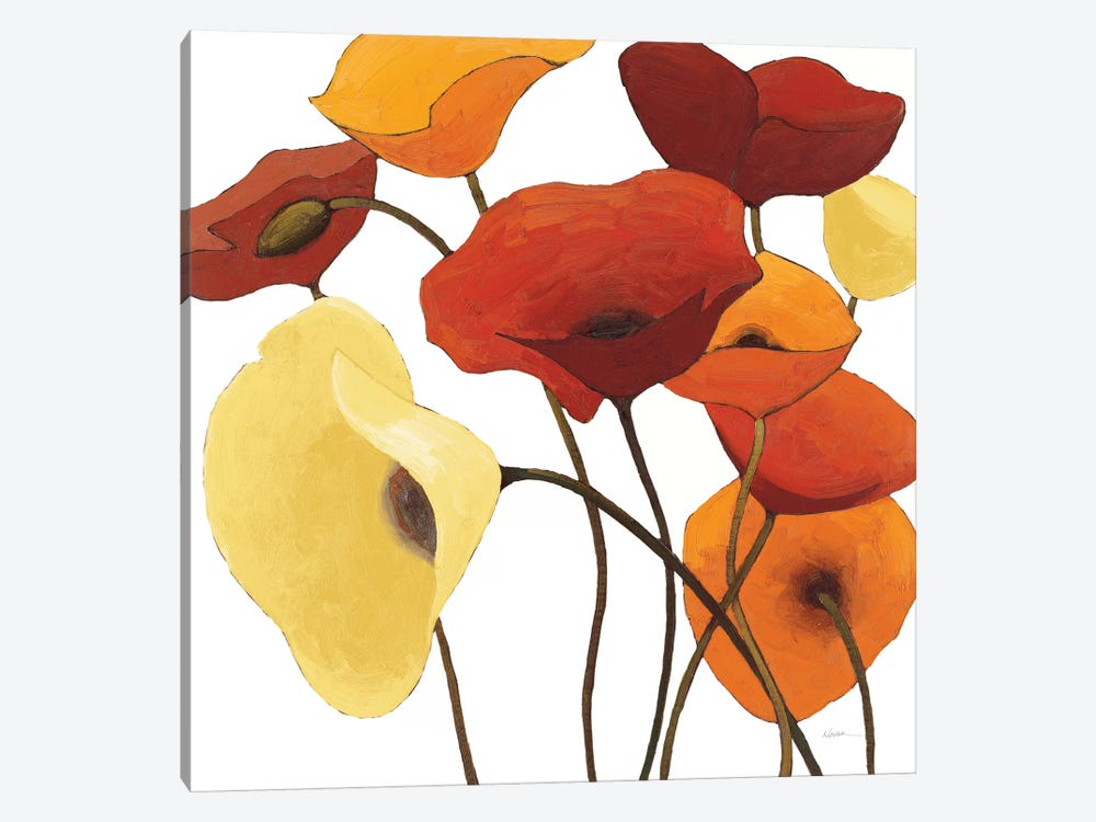 Up One On White Yellow by Shirley Novak 1-piece Canvas Wall Art