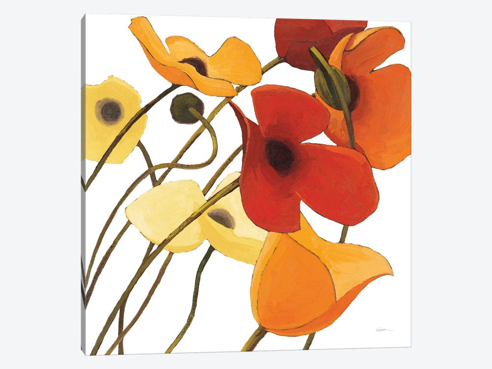 Up Two On White Yellow by Shirley Novak 1-piece Canvas Art Print