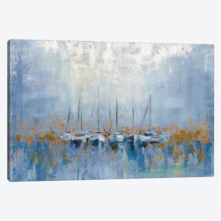 Boats In The Harbor I Canvas Print #WAC8239} by Silvia Vassileva Canvas Artwork