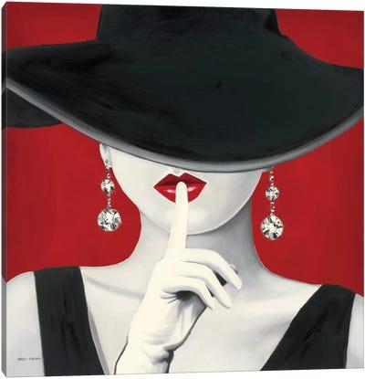Haute Chapeau Rouge I  Canvas Print #WAC823