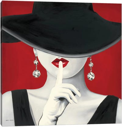 Haute Chapeau Rouge I  Canvas Art Print