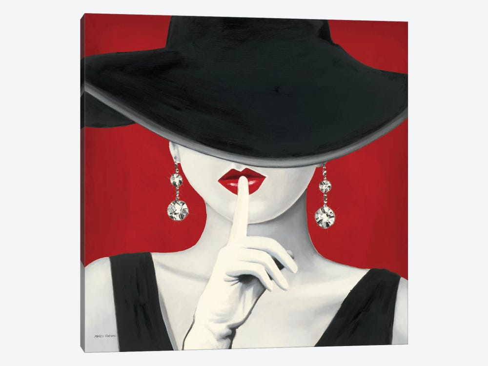 Haute Chapeau Rouge I  by Marco Fabiano 1-piece Canvas Art
