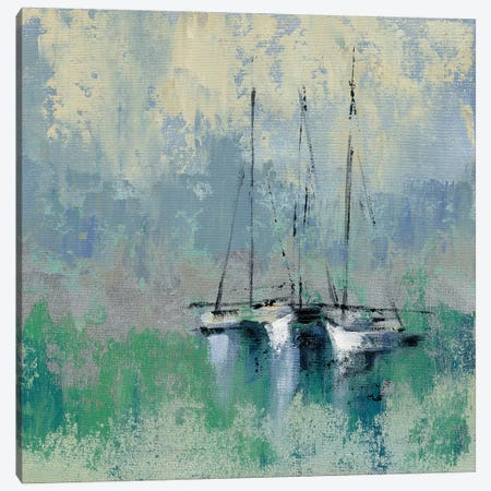 Boats In The Harbor II Canvas Print #WAC8240} by Silvia Vassileva Canvas Art Print