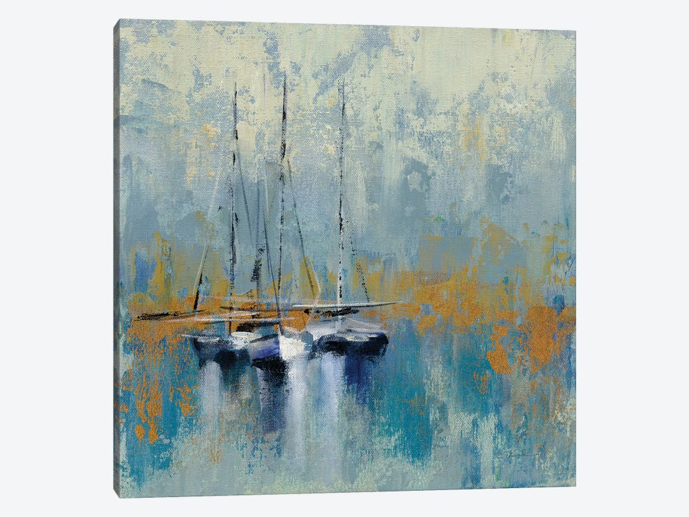 Boats In The Harbor III by Silvia Vassileva 1-piece Canvas Print
