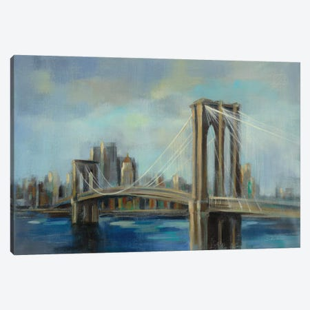 Brooklyn Bridge Canvas Print #WAC8242} by Silvia Vassileva Canvas Art Print