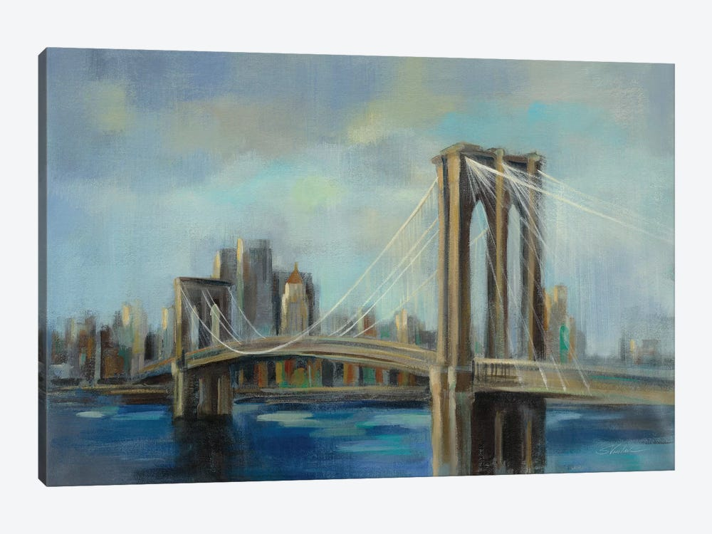 Brooklyn Bridge by Silvia Vassileva 1-piece Canvas Art
