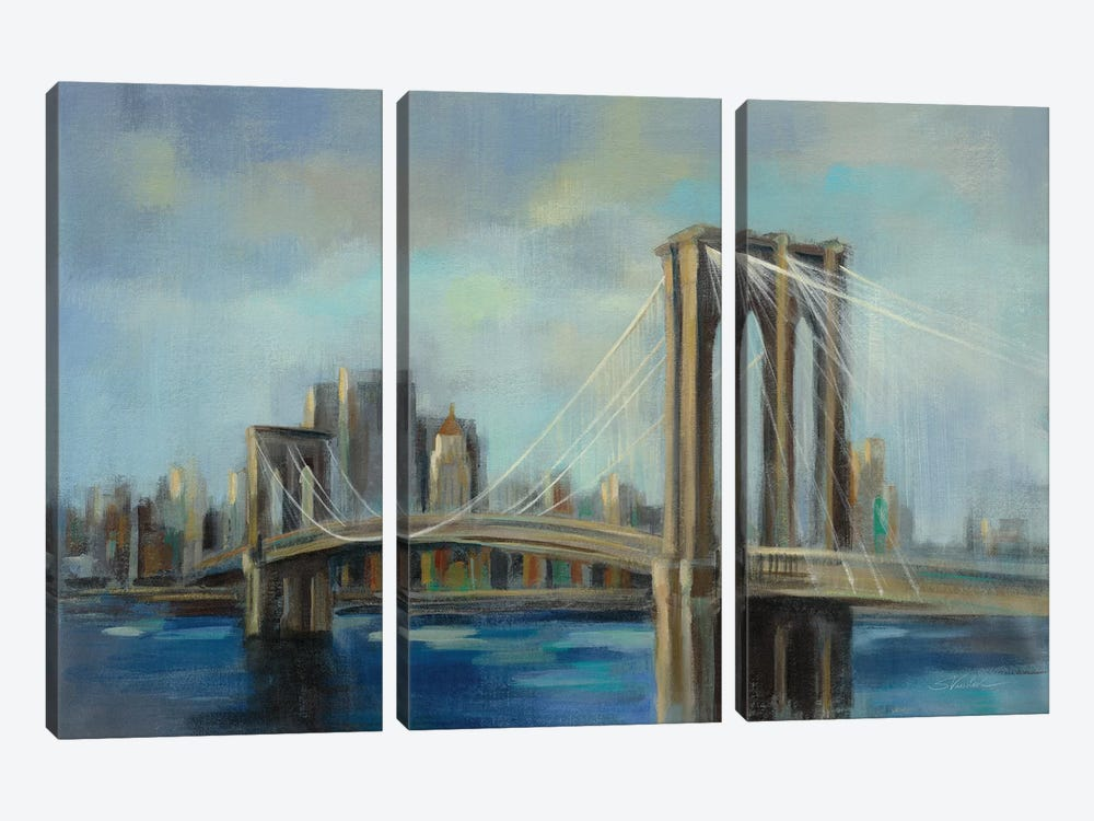 Brooklyn Bridge by Silvia Vassileva 3-piece Canvas Wall Art