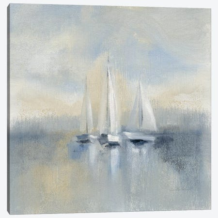 Morning Sail, Blue Canvas Print #WAC8249} by Silvia Vassileva Art Print