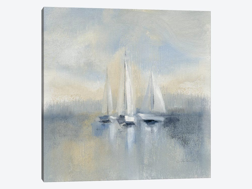 Morning Sail, Blue by Silvia Vassileva 1-piece Canvas Art Print