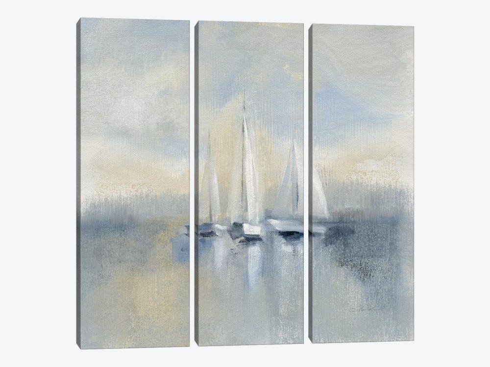 Morning Sail, Blue by Silvia Vassileva 3-piece Canvas Print