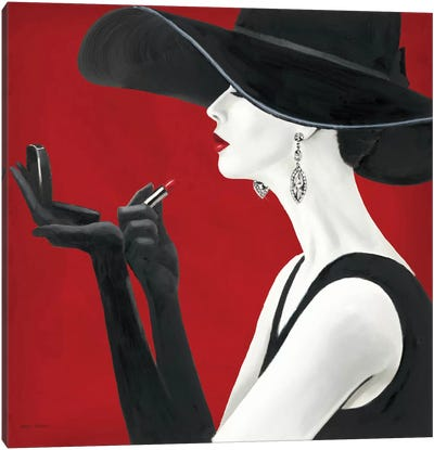 Haute Chapeau Rouge II  Canvas Art Print