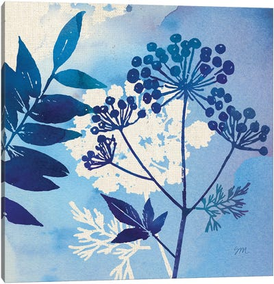 Blue Sky Garden Pattern I Canvas Art Print