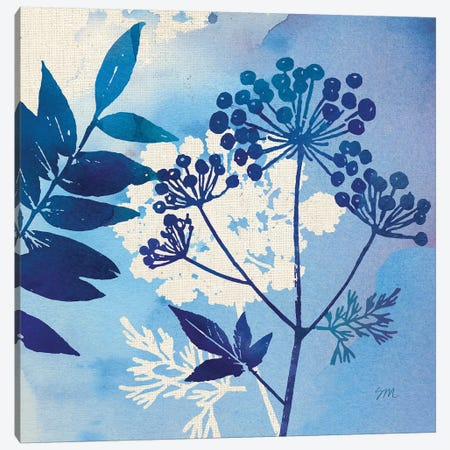 Blue Sky Garden Pattern I Canvas Print #WAC8259} by Studio Mousseau Canvas Artwork