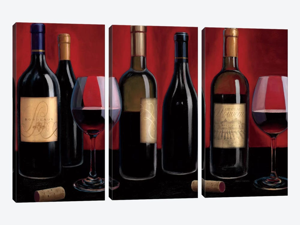 Grand Reserve  by Marco Fabiano 3-piece Canvas Art