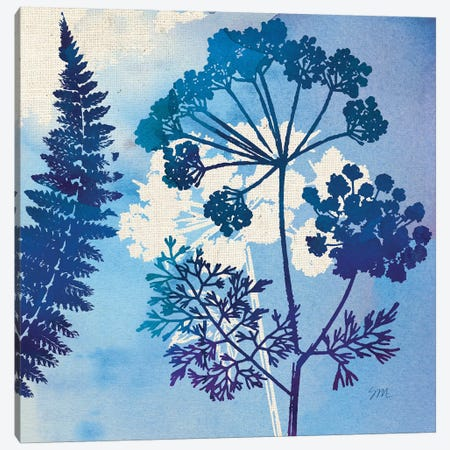 Blue Sky Garden Pattern II Canvas Print #WAC8260} by Studio Mousseau Art Print