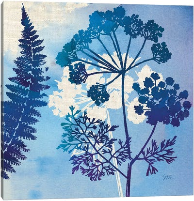 Blue Sky Garden Pattern II Canvas Art Print