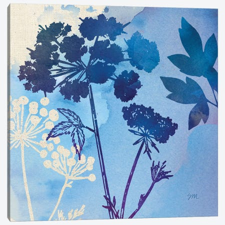 Blue Sky Garden Pattern III Canvas Print #WAC8261} by Studio Mousseau Canvas Print