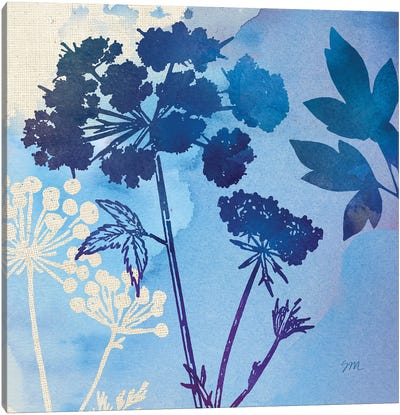 Blue Sky Garden Pattern III Canvas Art Print