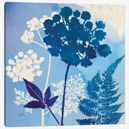 Blue Sky Garden Pattern IV Canvas Print #WAC8262} by Studio Mousseau Canvas Print