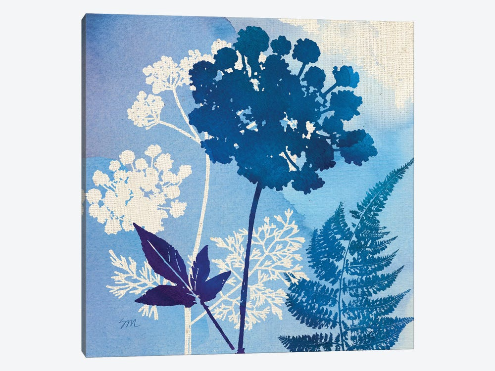 Blue Sky Garden Pattern IV 1-piece Canvas Art