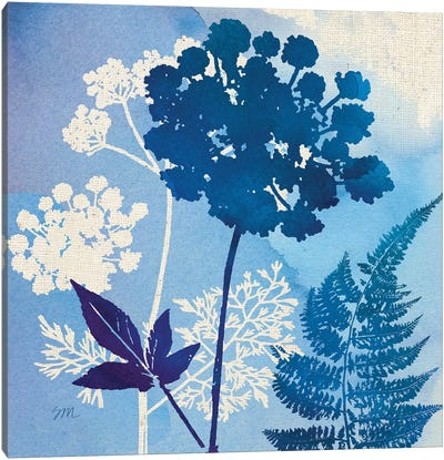 Blue Sky Garden Pattern IV Canvas Art Print