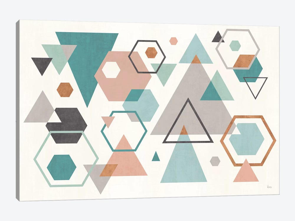 Abstract Geo I by Veronique Charron 1-piece Canvas Art Print