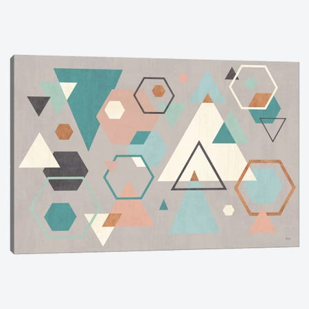 Abstract Geo I Gray Canvas Print #WAC8293} by Veronique Charron Canvas Art