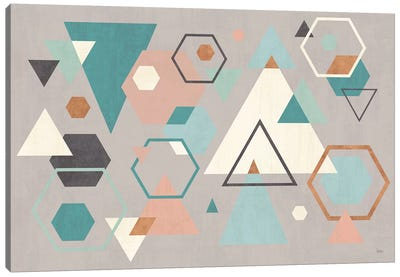 Abstract Geo I Gray Canvas Art Print