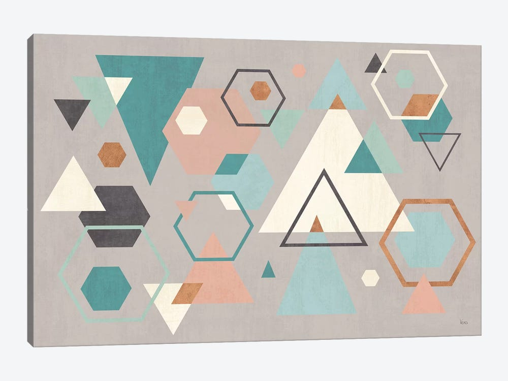 Abstract Geo I Gray by Veronique Charron 1-piece Canvas Art