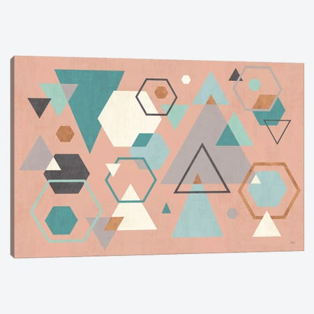 Abstract Geo I Pink Canvas Print #WAC8294} by Veronique Charron Canvas Print