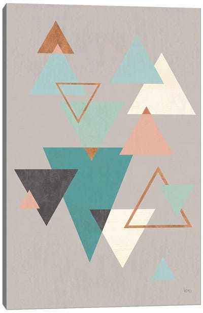 Abstract Geo II Gray Canvas Art Print