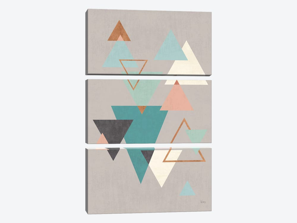 Abstract Geo II Gray by Veronique Charron 3-piece Art Print